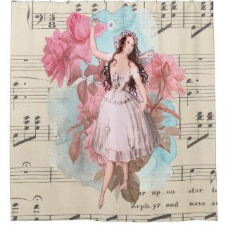 Música de baile de hadas de la bailarina del cortina de baño