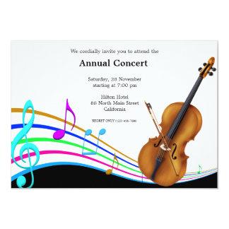 Música de concierto invitación 12,7 x 17,8 cm