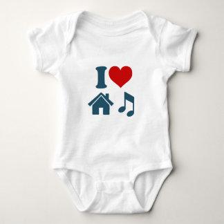 Música de la casa del amor body para bebé