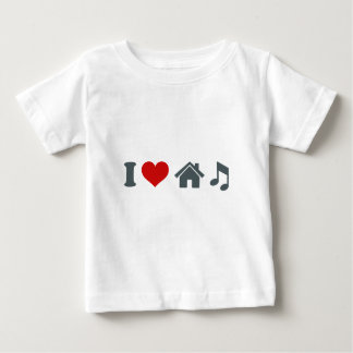 Música de la casa del amor camiseta de bebé