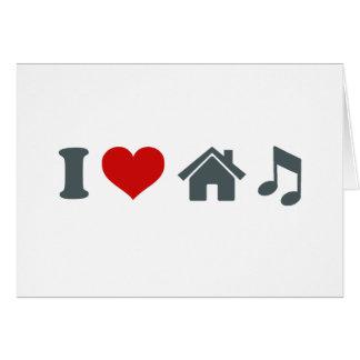 Música de la casa del amor tarjeta de felicitación