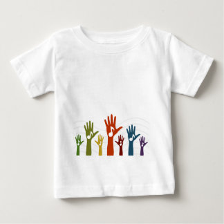 Música de la mano camiseta de bebé