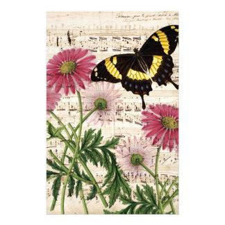 música de la mariposa de la margarita papelería