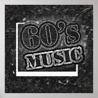 Música de los años 60 del vintage - poster