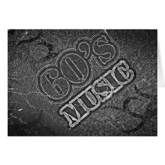 Música de los años 60 del vintage - tarjetas de fe