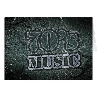 Música de los años 70 del vintage - tarjetas de fe
