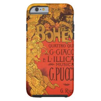 Música de Nouveau del arte del vintage, ópera de Funda De iPhone 6 Tough