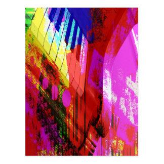 música, decoración del piano (16) postal