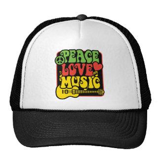 Música del amor de la paz de Rasta Gorras De Camionero