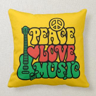 Música del amor de la paz del reggae cojin