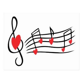 Música del amor postal