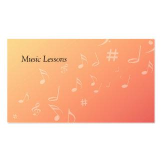 Música del melocotón tarjetas de visita