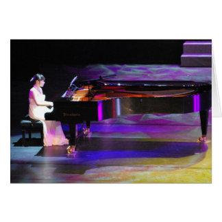 Música del piano felicitaciones