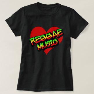 Música del reggae camiseta