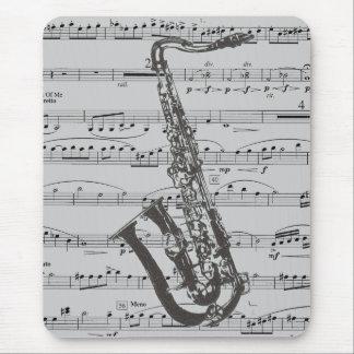Música del saxofón alfombrilla de ratón