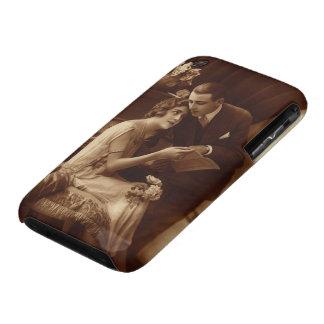 Música del vintage, amor y amantes románticos del Case-Mate iPhone 3 carcasa