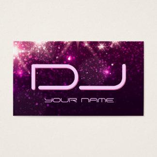 Música DJ - Brillo rosado brillante Tarjeta De Negocios