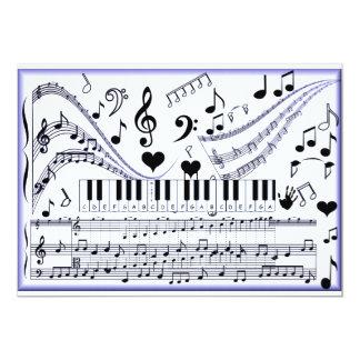 Música en me_ invitación 12,7 x 17,8 cm