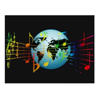 Música en todo el mundo tarjetas postales