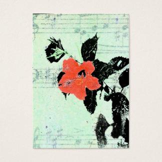 Música floral tarjeta de negocios