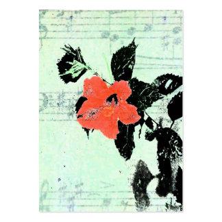 Música floral tarjetas de visita grandes