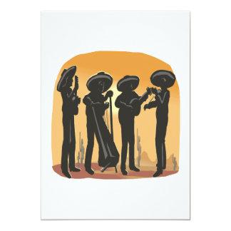 Música mexicana invitación 12,7 x 17,8 cm