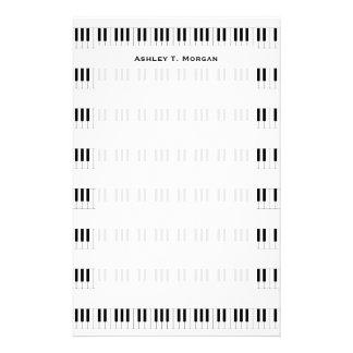 Música: Modelo del teclado de piano Papelería