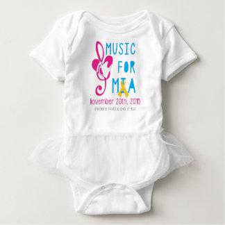 Música para el mono del tutú del bebé de Mia Body Para Bebé