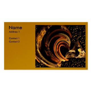 Música para el perfil Card_by Elenne Boothe del so Plantilla De Tarjeta De Negocio