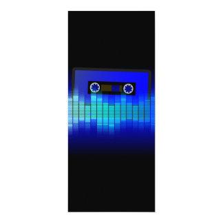 Música retra invitación 10,1 x 23,5 cm