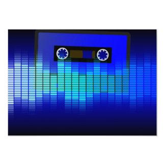 Música retra invitación 12,7 x 17,8 cm