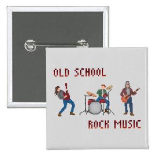 Música rock de la escuela vieja del pixel chapa cuadrada