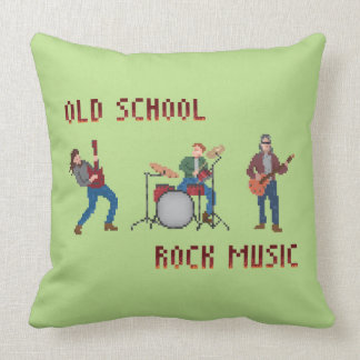 Música rock de la escuela vieja del pixel cojín