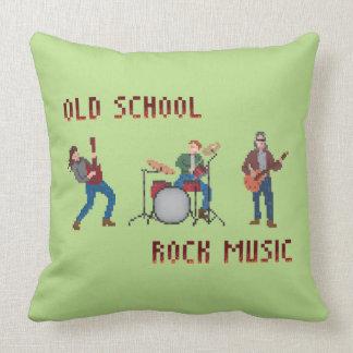 Música rock de la escuela vieja del pixel cojín decorativo