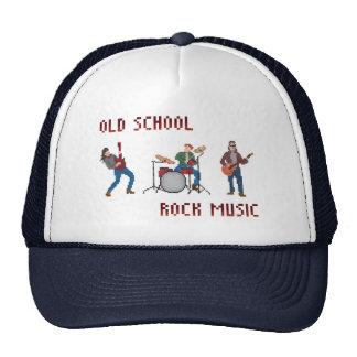 Música rock de la escuela vieja del pixel gorras