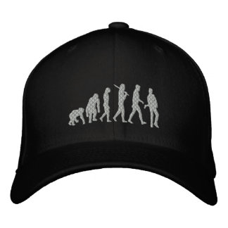Música rock de la evolución del músico de la gorras de beisbol bordadas