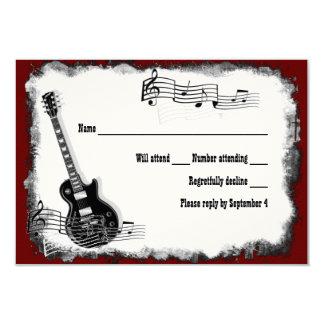 Música roja RSVP del negro de la guitarra