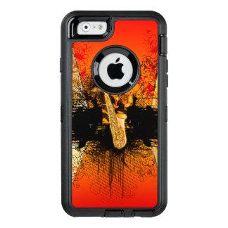 Música, saxofón con grunge funda OtterBox defender para iPhone 6