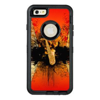 Música, saxofón con grunge funda OtterBox defender para iPhone 6 plus