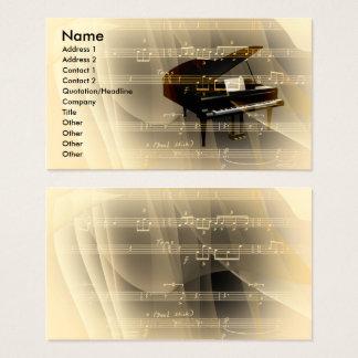música tarjeta de visita