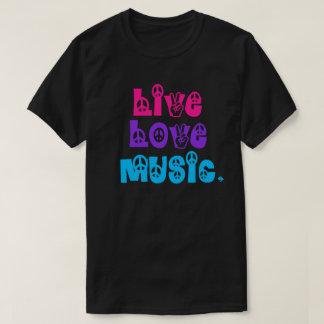 Música viva del amor camiseta