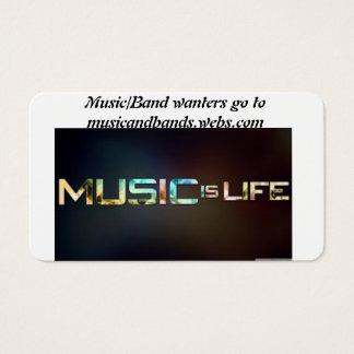 música y banda tarjeta de negocios