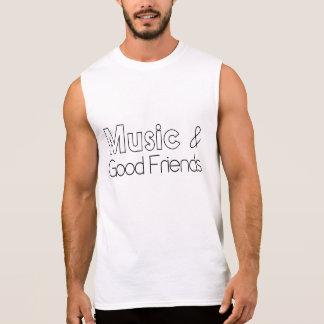Música y buenos amigos camiseta sin mangas