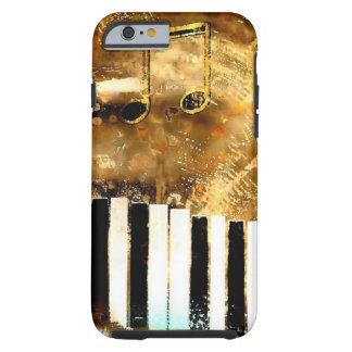 Música y notas elegantes del piano funda de iPhone 6 tough