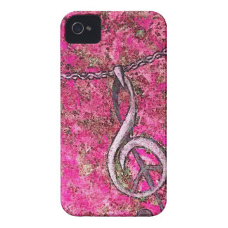 Música y paz iPhone 4 fundas