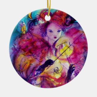 Músico del carnaval de la NOCHE de la MASCARADA en Ornamento Para Reyes Magos
