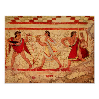 Músicos de Etruscan Póster