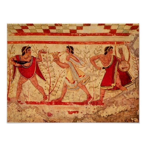 Músicos de Etruscan Poster
