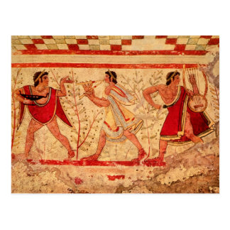 Músicos de Etruscan Postal