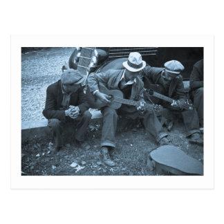 Músicos de la calle, Maynardville, Tennessee, 1935 Postal
